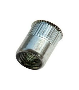 Заклепка M5*11,5 мм из стали с внутренней резьбой, уменьшенный бортик, с насечкой