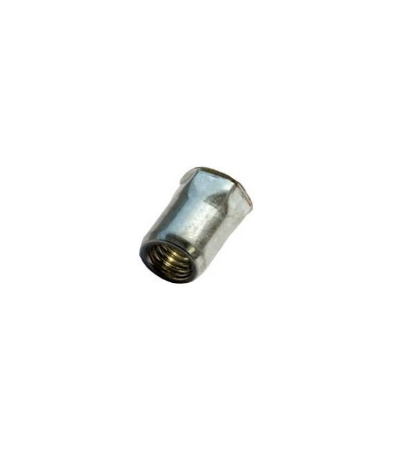Заклепка M4*12 мм из стали с внутренней резьбой, уменьшенный бортик, полушестигранная