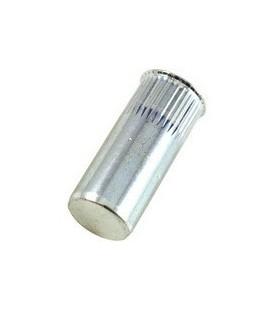 Заклепка резьбовая закрытая с маленьким бортиком и насечкой из нержавеющей стали M8*25,5 мм