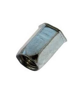 Заклепка M6*16 мм из стали с внутренней резьбой, уменьшенный бортик, шестигранная