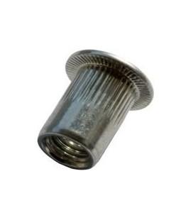 Заклепка M3*10 мм из нержавеющей стали с внутренней резьбой, цилиндрический бортик, с насечкой
