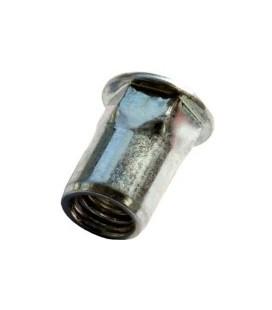 Заклепка M4*11,5 мм из стали с внутренней резьбой, цилиндрический бортик, полушестигранная