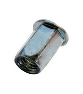 Заклепка M4*11,5 мм из стали с внутренней резьбой, цилиндрический бортик, шестигранная