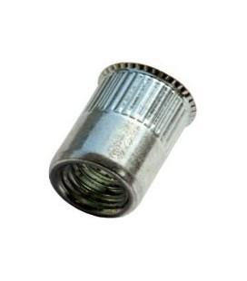 Заклепка M10*19,5 мм из алюминия с внутренней резьбой, уменьшенный бортик, с насечкой
