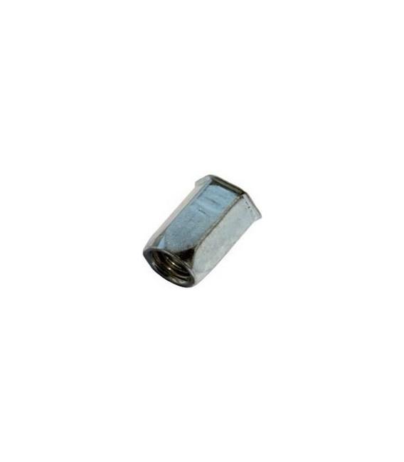 Заклепка M8*18 мм из стали с внутренней резьбой, уменьшенный бортик, шестигранная