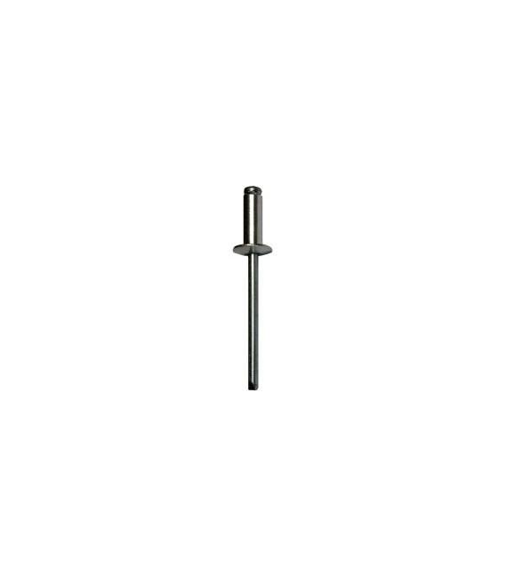 Заклепка вытяжная 5*12 мм со стандартным бортиком (алюминий/сталь)