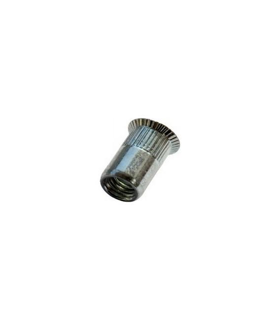 Заклепка M4*11,5 мм из стали с внутренней резьбой, потайной бортик, с насечкой